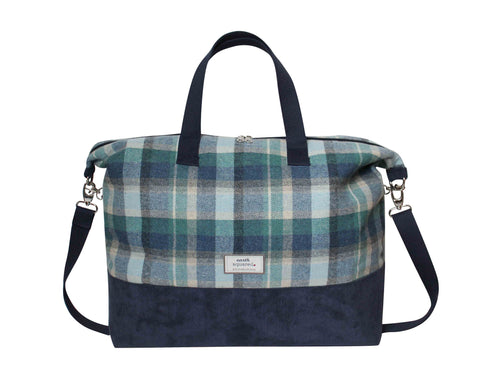 Quality Scottish Designed Cloudburst Tweed Weekend Bag  - Fair Trade
