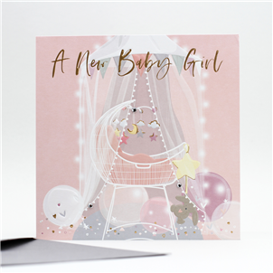*NEW* Congratulations - New Baby Girl Card.