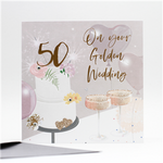 *NEW*High Quality-Golden Wedding Anniversary Card.