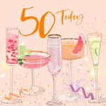 50Th  Birthday Card - Beautiful High Quality