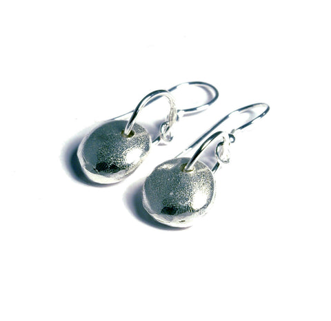 Handmade in Scotland -  Silver Nugget Earrings