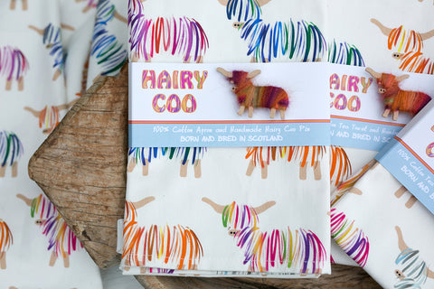 Gorgeous Hairy Coo Cotton Apron