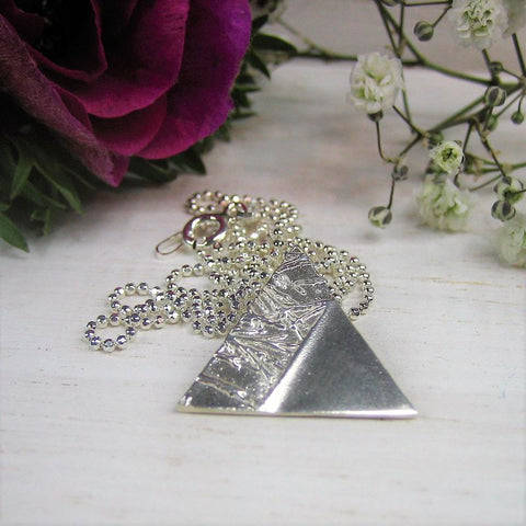 Beautiful Handmade Silver Triangle Necklace
