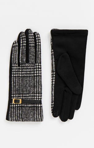 Black And White Wool Gloves  - Elegant Cosy