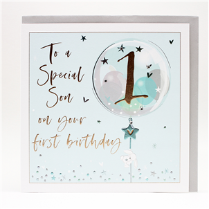 NEW*  Large Luxury High Quality Card -To a Special Son on Your 1st Birthday
