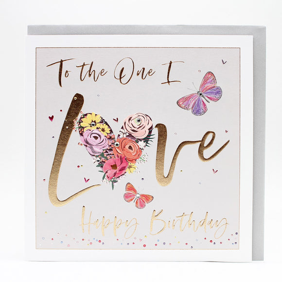 NEW*LUXURY- LARGER THAN USUAL-Birthday Card -To the One I love Happy Birthday.