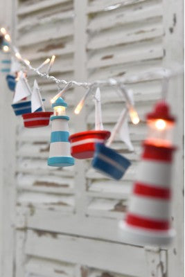 Battery Operated Boats And Lighthouse Fairy Lights
