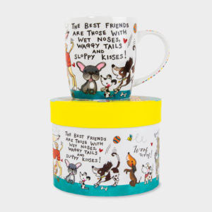 CHINA MUG ‐ THE BEST FRIENDS ARE … DOGS