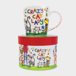 CHINA MUG ‐ CRAZY CAT LADY