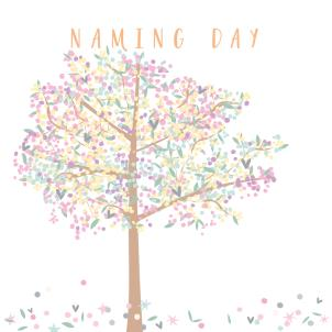 Naming Day Card For Girl