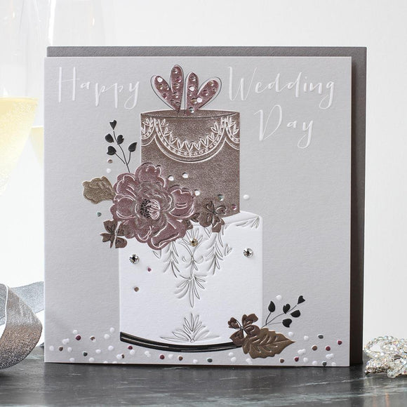 'Happy Wedding Day' Cake Wedding Card