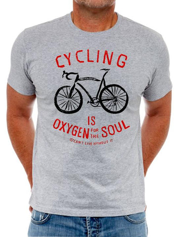 OXYGEN FOR THE SOUL - Men's T-Shirt - Popular With Cyclist