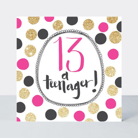 Age 13 Teenager Happy Birthday Card - Super Duper