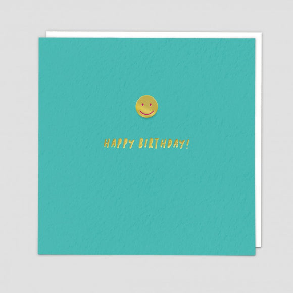 Smiley Face Card With Enamel Pin