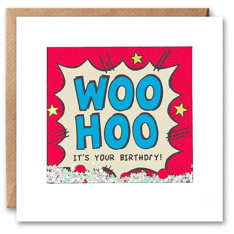 Woo Hoo Happy It's Your Birthday Shakies Card