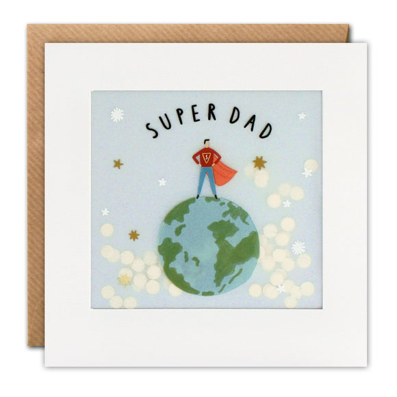 Super Dad  Shakies Card - Father's Day Card