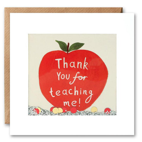 Thank You Teacher Shakies Card