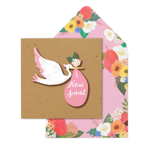 New Arrival Pink Stock - Baby Girl Card