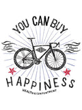 Cotton T-Shirt For Men   -  Very Popular With Cyclists - You Can Buy Happiness