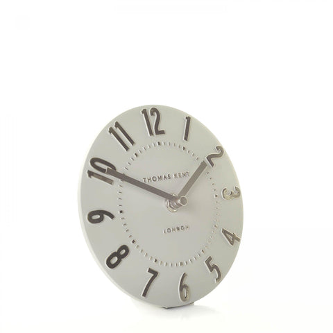 "6"" Contemporary Mulberry Mantel Clock Silver Cloud ."