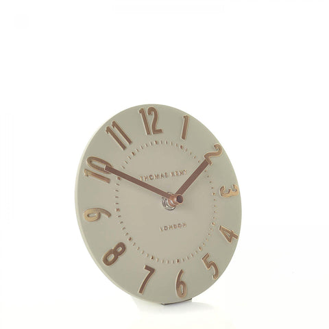 "6"" Contemporary Mulberry Mantel Clock Rose Gold."
