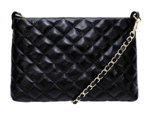 Ladies Black Italian Leather Shoulder Bag.