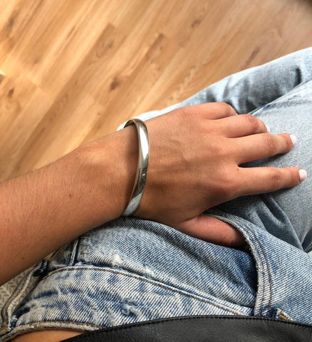 Beautiful Handmade Silver Bangle Made In The Uk