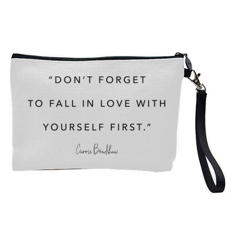 Gorgeous Contemporary Cosmetic Bag With Inspiring Words