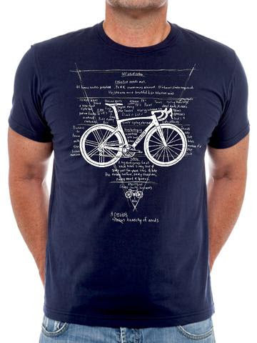 Cotton T-Shirt For Men   -  Very Popular With Cyclists - Hierarchy Of Needs