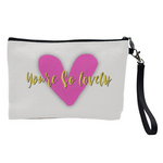 Gorgeous Contemporary Cosmetic Bag With Heart Print