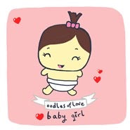 Copy of New Baby Girl Card