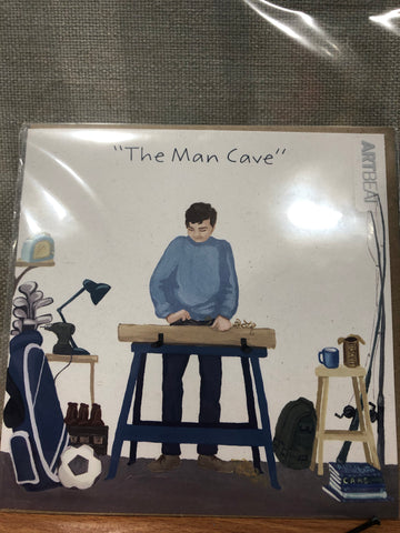 Male Birthday Card - The Man Cave