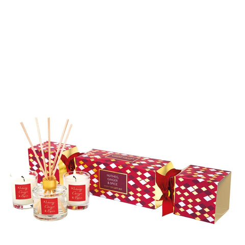 Seasonal Collection - Nutmeg Ginger & Spice - Cracker Gift Set Soya Candle