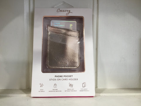 Phone Pocket Stick-On Card Holder