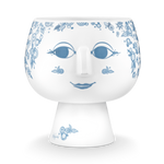 Plant Pot Extra Large Size Pale Blue And White