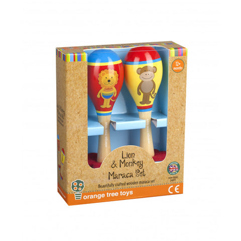 Lion & Monkey Maraca Set.