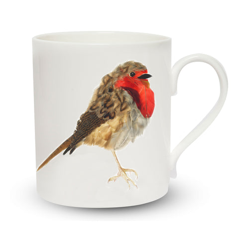 Scottish Themed   China Mug – Robin Design