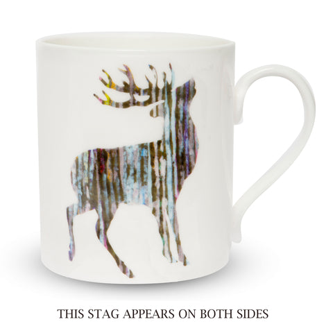 Scottish Themed Silver Stag China Mug.