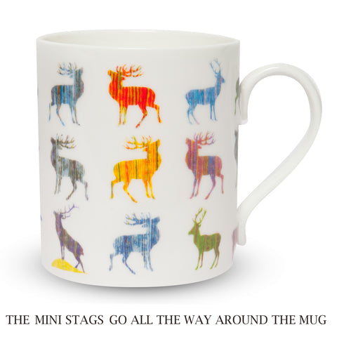 Scottish Themed   China Mug – MULTI STAG DESIGN
