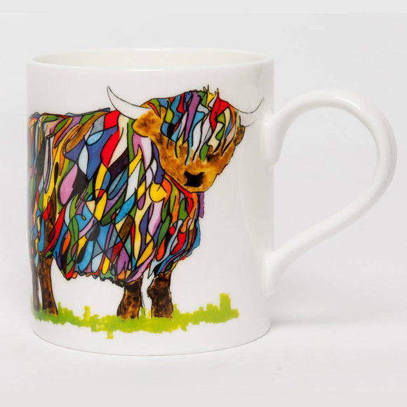 Bright Highland Cow Mug