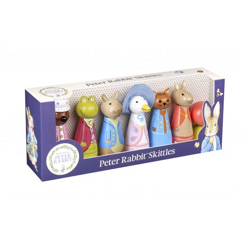 Traditional Wooden Skittles - Peter Rabbit.