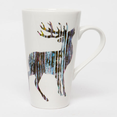 Scottish Themed  China Mug – Highland Stag  Design Cone  Shape Mug.