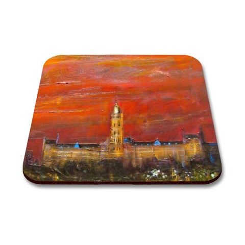 Glasgow University Dusk Art Coaster