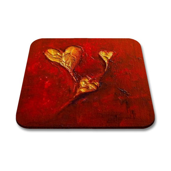 Hearts Art Coaster