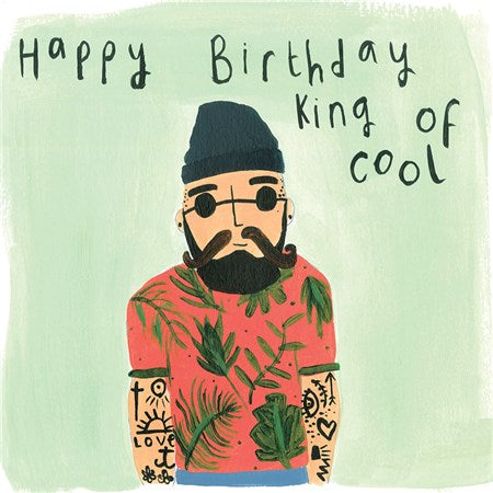 Popular Contemporary Fun Male Birthday Card - King of Cool