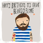 My Favourite Beardy Bloke Birthday Card