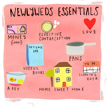 Newlyweds Essentials - Wedding Card