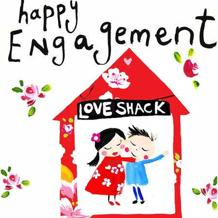 Contemporary Engagement Card