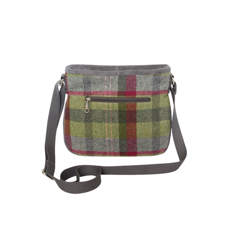 Quality -Scottish  Design Stone Moss Tweed Rosy Bag
