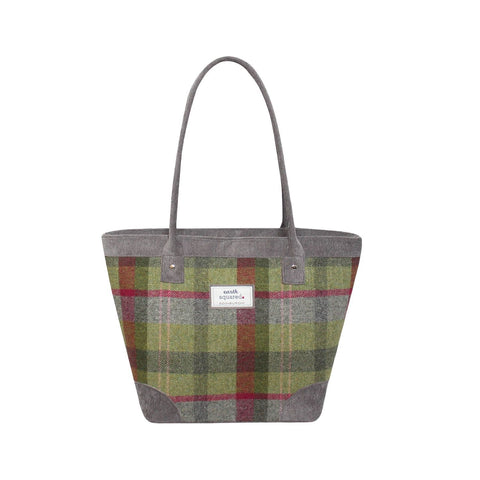Quality -Scottish  Design Stone Moss Tweed Tote Bag
